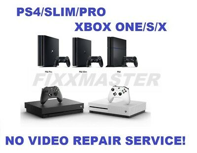 $77.97 • Buy Broken PS4/Xbox One/S/X White Light/No Video/HDMI Encoder IC/HDD Repair Service!