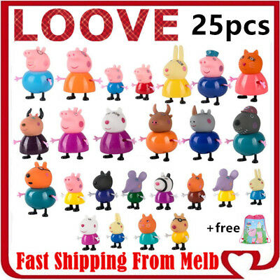 AU12.49 • Buy Peppa Pig Playset Family Gift Kid Toy Children Character Doll Figure Plastic PVC