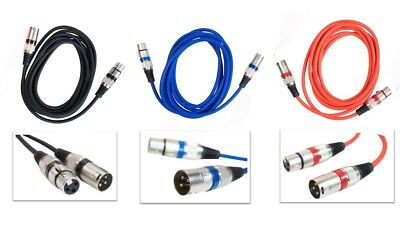 £5.99 • Buy Microphone Lead Mic Cable XLR Patch Balanced Male To Female Plugs Speaker Pro