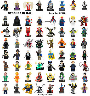 Marvel The Avengers Minifigure X-Men Lego & Custom Hulk Minifigures Mini Figure • 3.29£