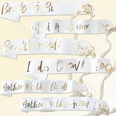 I Do Crew Sash Team Bride To Be Hen Do Sashes Party Accessories Girls Night Out • 4.20£