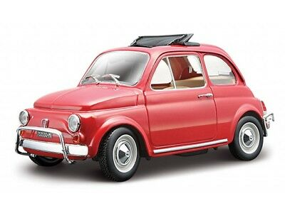 Burago 22099R - Red Fiat 500L 1968 1/24th Scale Diecast Model - Tracked 48 Post • 18.99£