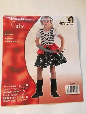 Pirate Cutie, Childrens Pirate Fancy Dress, Medium And Large • 10£