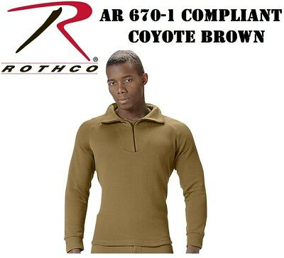 $25.99 • Buy AR 670-1 Coyote Brown Top Military ECWCS Cold Weather Thermal H.W. Rothco 3861