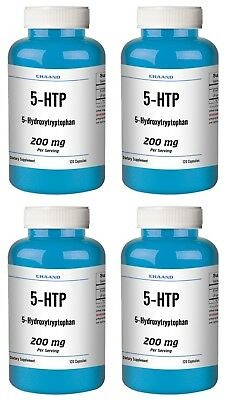 $ CDN65.76 • Buy 5-HTP LOT OF 4 200mg Supplement - 480 Capsules BIG Bottles BEST DEAL CHAAND