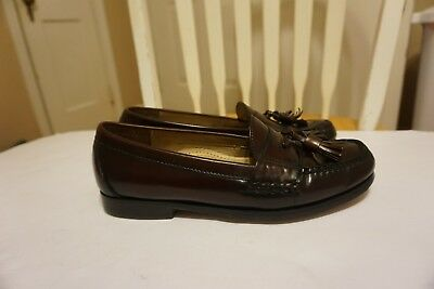 a451f57962b Mens COLE HAAN Tassel Leather Moc Loafer Burgundy Slip On Shoes Size 7.5 D  GUC •