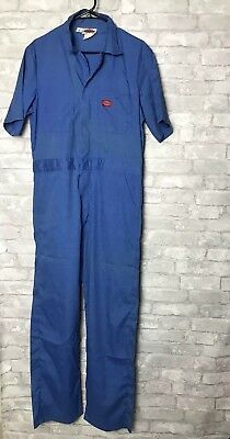 2a1b3ab6f542 DICKIES COVERALLS - Vtg Mens Blue Work Mechanic PlumbebrOveralls