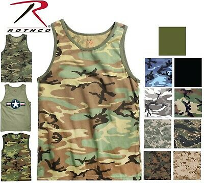 $10.99 • Buy Camo Tank Top Sleeveless Muscle Tee Camouflage Tactical Army Military T-Shirt