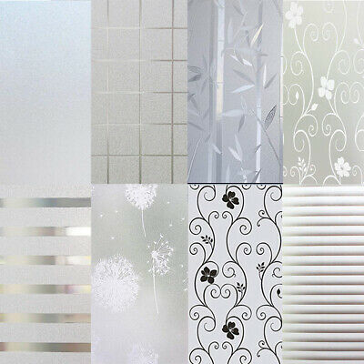 £8.99 • Buy Privacy White Frosted Window Film Frost Etched Glass Static Plastic Vinyl UK