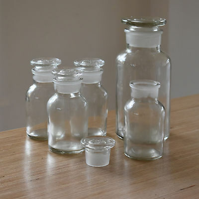 Apothecary Bottle, Vintage Glass Bottle, Rustic Bottle With Glass Stopper • 13£