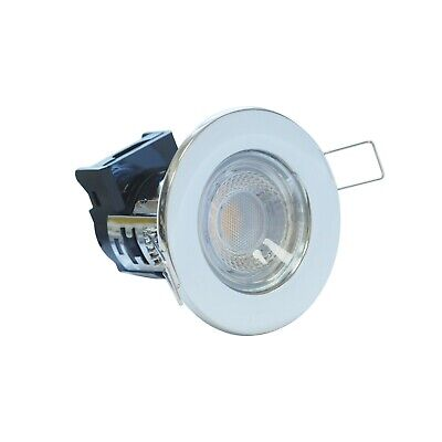 LED Fire Rated Downlight Integrated Eco Shield Dimmable 5 W IP65 Chrome LEDBRITE • 8.50£