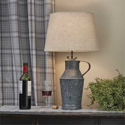 $159.95 • Buy Granite Enamelware Milk Can Table Lamp With 14  Shade By Park Designs