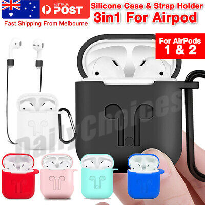 AU4.95 • Buy 3IN1 Shockproof For Airpods Case Cover Skin Anti Lost Strap Holder Airpod Case 1
