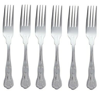 Kings Pattern Dinner Forks Quality Design Set Of 6 Six Large Table Cutlery • 6.99£