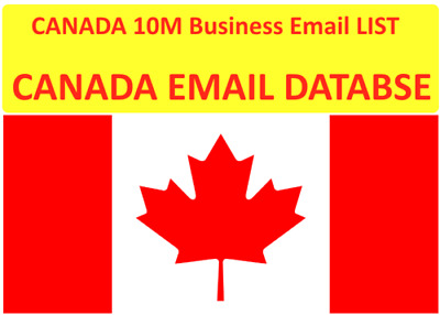 $4.99 • Buy Canada Consumer Lists, Canada B2C 10 Million+ Emails Targeted List For Sales
