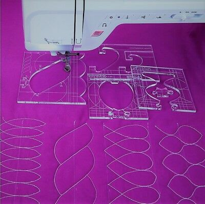 $41.67 • Buy Template Ruler For Quilting (border) Set Of 4  For Sewing Machines #rl-04w