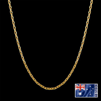 AU4.95 • Buy 18K Yellow Gold GP 1.5mm Link Necklace Anchor Chain For Pendant WHOLESALE PRICE