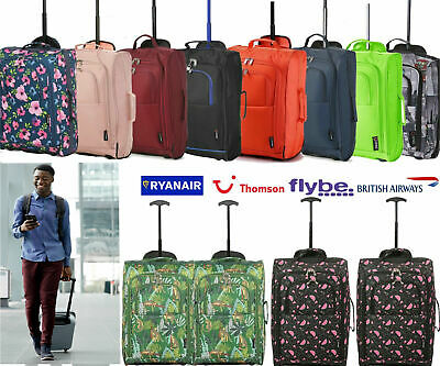 Ryanair Approved Lightweight 55x35x20cm Wheeled Hand Luggage Cabin Bag Set • 29.97£
