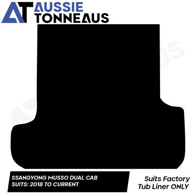 AU108.98 • Buy Rubber Ute Mat For Ssangyong Musso Dual Cab With Factory Liner (2018-Current)