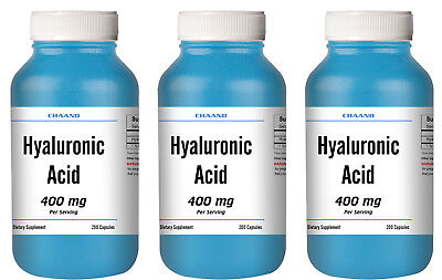 AU89.72 • Buy Hyaluronic Acid LOT OF 3 400mg/200mg Supplement - 600 Capsules Huge Bottles