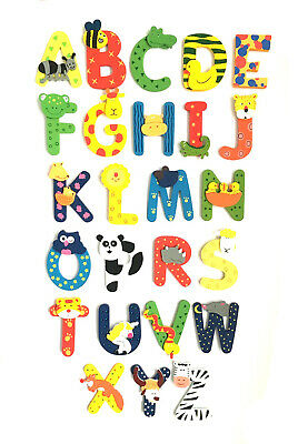 £1.25 • Buy Fun Colorful Animal Wooden Alphabet Letters Personalised Name Gift Set/ Toys