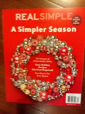 $1.25 • Buy *NEW* REAL SIMPLE A Simpler Season December 2018 Magazine!! Life Made Easier!