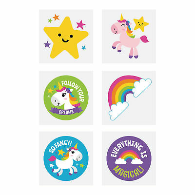 AU2 • Buy Unicorn Tattoos...PACK OF 12...Party Favours...Treat Bag...Loot Bag Fillers