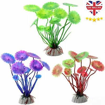 Artificial Fish Tank Plants Aquarium Aquatic Decoration Ornament Grass Flower UK • 2.35£