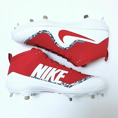 94f63eae822 New Nike Baseball Force Air Trout 4 Pro Mens 12 Red White Metal Spikes  Cleats •