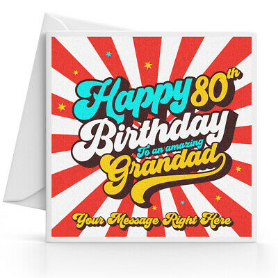 £3.45 • Buy Personalised 80th Birthday Card Male Husband Grandad Uncle Brother Dad Friend