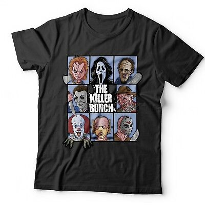 The Killer Bunch Horror T Shirt Childs Play Friday 13Th Halloween It Pennywise • 6.95£