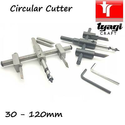 £11.99 • Buy Adjustable Circle Hole Saw Cutter Drill Bit / Blade 30-300mm For Wood Plaster