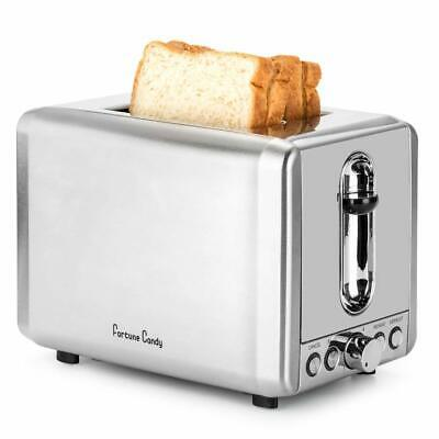 $35 • Buy Fortune Candy Toaster 2 Slice Stainless Steel, Compact Retro 2 Slice Toaster