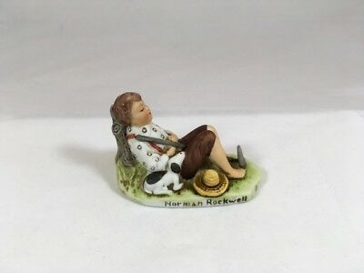$ CDN11.37 • Buy Norman Rockwell NR-208  Lazybones 1919  1979 Dave Grossman Mini Figurine