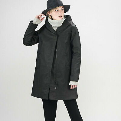 $ CDN271.59 • Buy M0851 Canada Waxed Cotten Jacket Lined Ladies Hooded White Trench Coat Jacket~xl