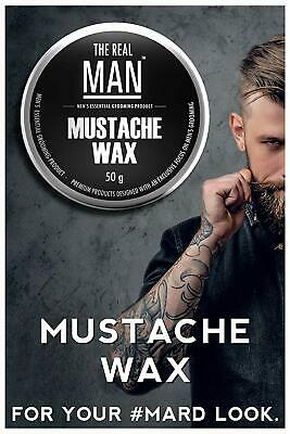 Mustache Wax Extra-firm Men Strong Hold Wax With All Natural Ingredients 50g • 9.99£
