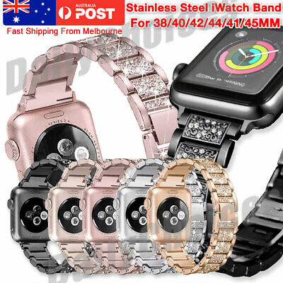 AU13.83 • Buy For Apple Watch IWatch Series 5/4/321 Diamond Stainless Steel Band 38/42/40/44mm