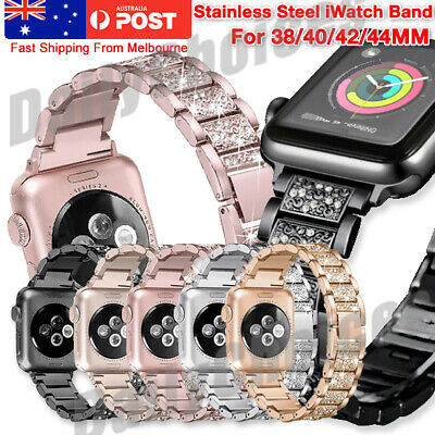 AU15.25 • Buy For Apple Watch IWatch Series 6/5/4/3 Diamond Stainless Steel Band 38/42/40/44mm