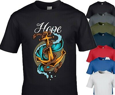 Hope, Anchor Pop Art T-Shirt In M/F/Y Sizes 7 Colours • 10.99£