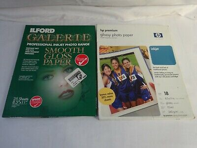 ILFORD GALERIE & HP Photo PAPER Glossy -34 Sheets 8.5  X 11  JA • 14.46£