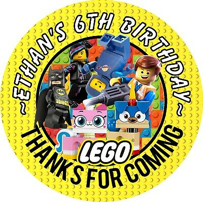 $5.35 • Buy Lego Movie 2 Birthday Personalized Round Party Stickers Favors Labels All Sizes