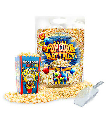 Sweet Popcorn ~ Home Movie Pack  + 6 Plastic Popcorn Tubs + 1 Scoop  • 16.99£