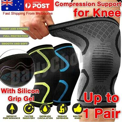 AU8.34 • Buy Knee Support Brace Compression Sleeve Arthritis Pain Relief Gym Sports Running