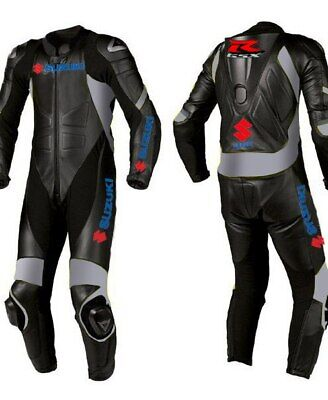 $229.99 • Buy Suzuki Motorcycle Leather Suit Motorbike Racing Leather Biker 1PC/2PC Suit Armor