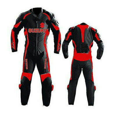 $229.99 • Buy Suzuki Motorcycle Leather Suit Motorbike Racing Leather Biker 1PC Suit Armors