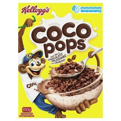 View Details Kellogg's Coco Pops Chocolatey Breakfast Cereal 650g • 5.50AU