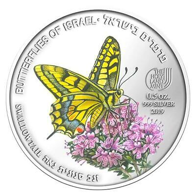 Israel 2019 Coins & Medals Swallowtail  Butterfly Color Silver • 77$