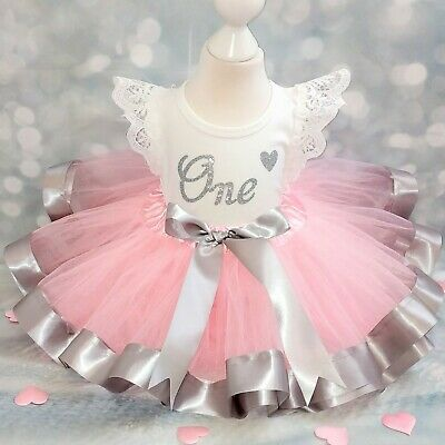 £22.99 • Buy Baby Girl First 1st Birthday Outfit Tutu Cake Smash Photo Shoot Party Dress