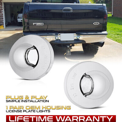 $11.39 • Buy [OE-STYLE] 90-14 Ford F150 Chrome Bezel License Plate Light Housing Replacement