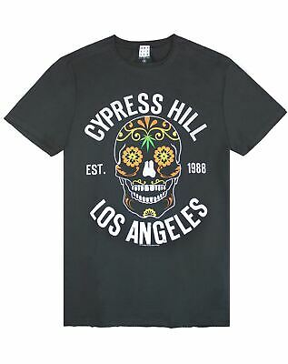 Amplified Cypress Hill Floral Skull Mens T-Shirt • 19.99£